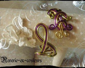 """Bracelet """"Highness"""" tri-color aluminum wire"""