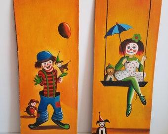 Vintage Clown Paintings