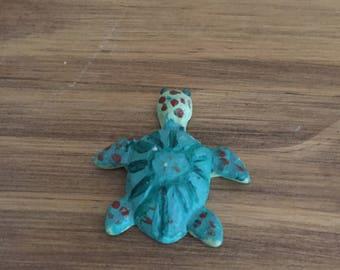 Cute turtle polymer clay charm