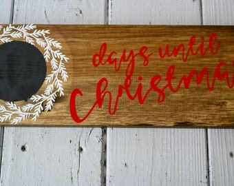 Days until Christmas/Christmas/Wood Sign