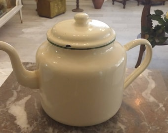Vintage Dutch Enamel Tea Pot - Early 1960s'