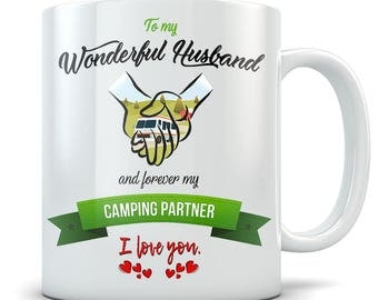 RV Camping Mug - Great Gift to your Husband - Forever My Camping Partner