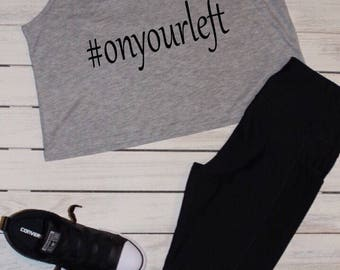 On your left gym tank