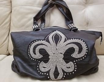 Unique One of a Kind Lionel Fleur De Lis Handbag