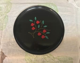 Vintage 1960s COUROC of MONTEREY California Unique Hand Inlaid Apple Tree Decorative Plate