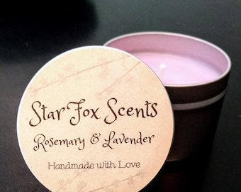 Rosemary & Lavender Candle Tin
