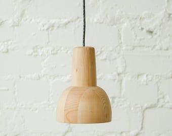 "Wood pendant light ""KOLPAK"", contemporary handmade fixture"