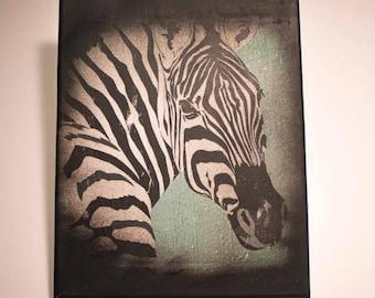 Zebra 8x10 Wall Art