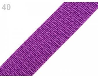 1 meter of strap 30 mm purple nylon