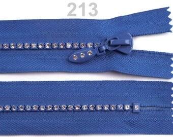 Blue 18 cm non-detachable RHINESTONE closure