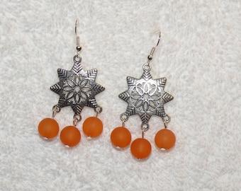 Star earring silver