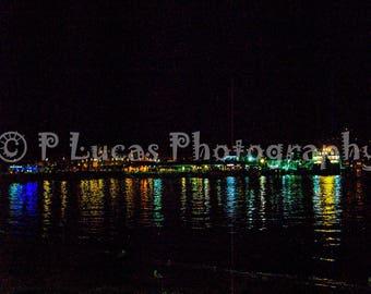 Oban Harbour at Night