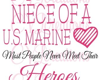 Proud Niece of a US Marine SVG DXF