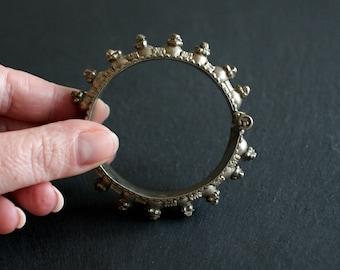 Vintage bedouin bracelet   Arabian Peninsula   Saudi Arabia   Yemen   Oman   dome bracelet   collector's item   unique jewelry