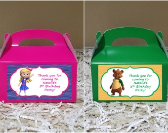 SALE! 12+ Labels Or Boxes & Labels 12 Goldie and Bear Treat Boxes, Goldie and Bear Gable Boxes, Goldie and Bear Candy Boxes, Goldie and Bear