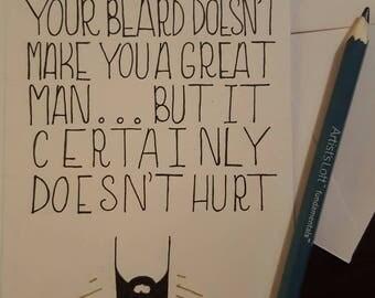 Funny beard boyfriend birthday card