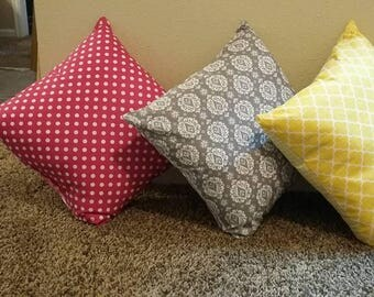 The throw pillow is designed to support and comfort the weary soul. It helps one feel comfort and at rest.