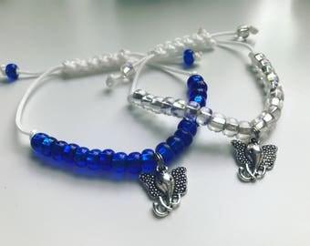 Elephant Adjustable Beaded Charm Bracelet