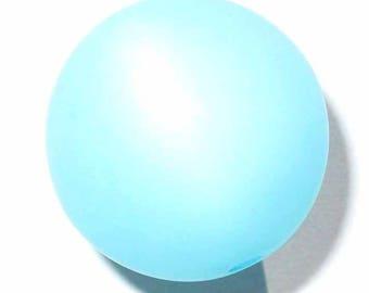 2 polaris 20mm blue aquamarine beads