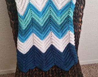 Shades of Blue Baby Afghan!