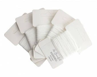 White 12 m sashiko thread