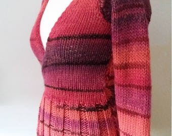 BERRY Cardigan knitted 32/34 Berry winding form