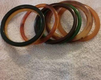 Bakelite bracelet set