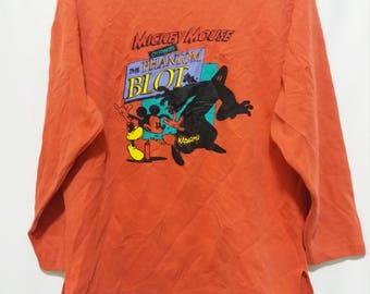 Vintage Mickey Mouse Sweatshir Cartoon Sweater Funny