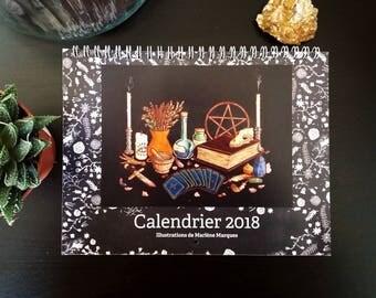 Calendrier 2018 - 16 x 21 cm - Thème Sorcières