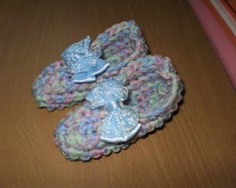 Crocheted 12-15 months old baby booties