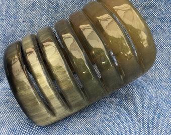 Carved Horn Cuff Made in Peru