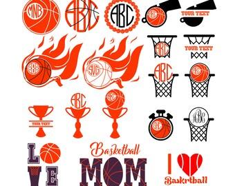 Basketball svg, Basketball monogram svg, Basketball Ckipart, Basketball digital download clip art, Install download svg, dxf, eps, png, jpg
