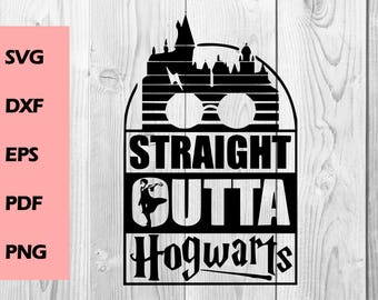 straight outta SVG straight outta hogwarts svg, cutting file, Printable, T-shirt Design, Scrapbooking Clipart