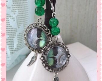 """Silver earrings """"My Butterfly my half"""""""