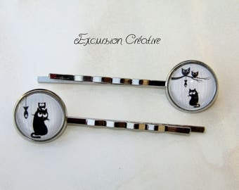 Cabochon 16 mm fish cats and owls supports silver metal