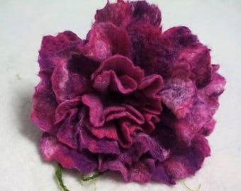 Felt flower felting handmade unique gift flower Merino Wool decoration