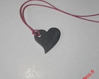 Slate heart pendant