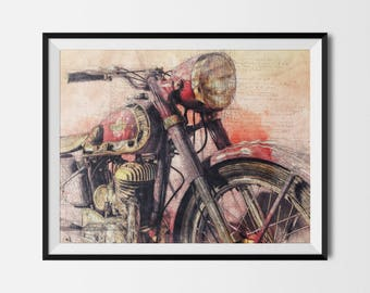 Motorcycle Printable, Motorcycle Poster, Vintage Triumph,Triumph Poster,Triumph Motorcycle,Motorcycle Print,Motorcycle Art, INSTANT DOWNLOAD