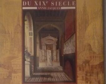 "Art book ""the 19th century architectural drawings."