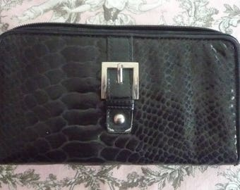 Faux black leather wallet - used