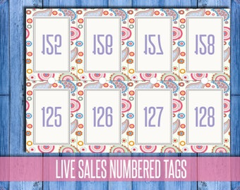 Facebook, Periscope Live Sale Numbers; number tag; mirror number; number tag; live sale tag; number card; sale reverse number;  instant dwld