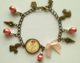 """Miss chipie"" bracelet charm"