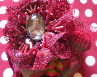 "Shabby chic ""century of lights"" glamorous expression of a beautiful favorite brooch"