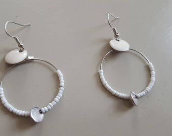 Earrings • LILI • silver / white