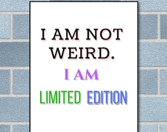 Funny quote. Funny typography wall art. Digital download. Printable poster.