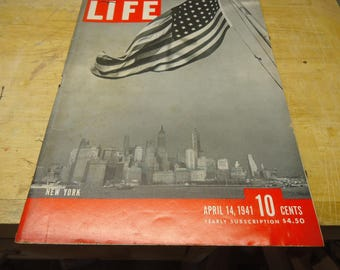 Life Magazine April 14, 1941 New York