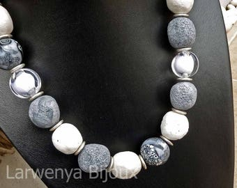Meteorites - grey necklace