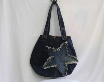 bag with star applique