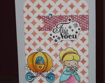 card, invitation, birthday, christening, baby, children's stories, Cinderella