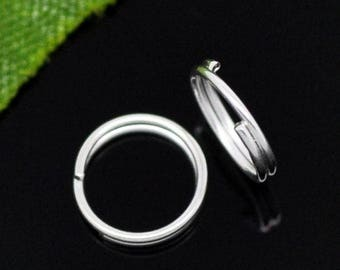 double 100 jump rings 7 mm